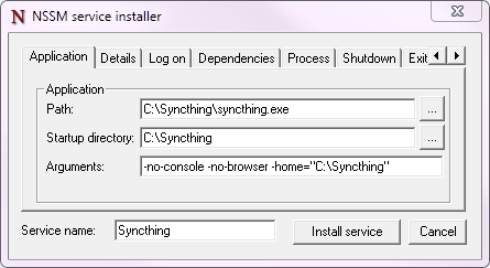 2.19. Starting Syncthing Automatically \u2014 Syncthing v1 documentation